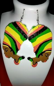 Jamaican-flag-queen-Statement-Wood-Carved-Earrings-multicolored-new