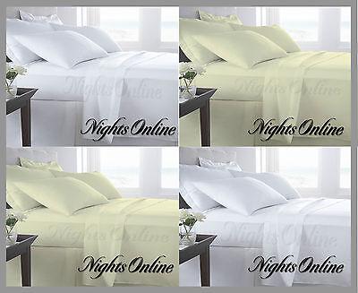 Luxury 400TC//800TC 100/% Egyptian Cotton Duvet Covers All Sizes In White//Cream .