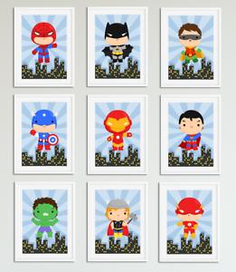 Cute-Superhero-Pictures-Prints-for-Boys-Bedroom-Playroom-Home-Decor-Hero