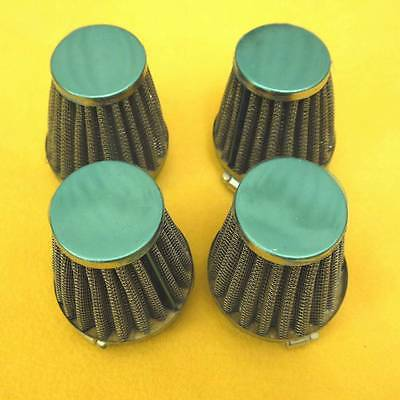 4x 52mm Air Filters Filter 1986-2003 Kawasaki ZG1000 Concours 1000 998 NEW PODS