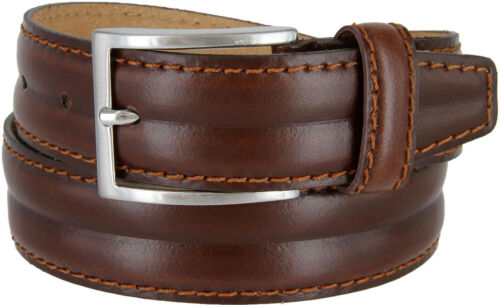 "Mens Italian Genuine Leather Dress Casual Belt Made in Italy 1-3//8/"" Wide"
