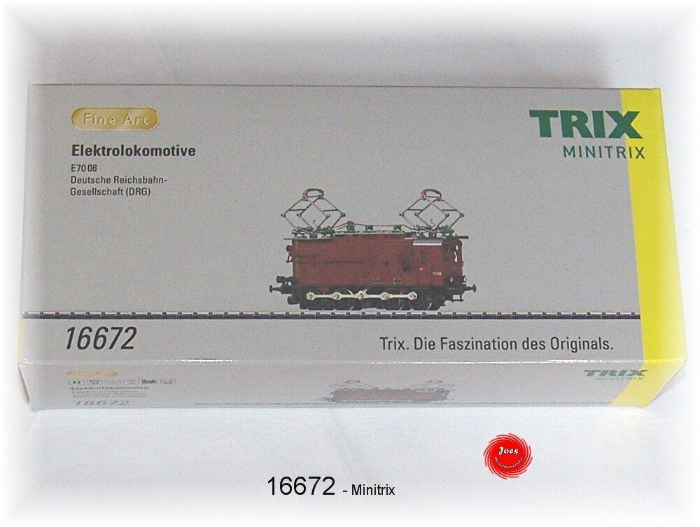 Trix 16672 E-Lok E70 08 della DRG MODELLO FATTO A MANO IN OTTONE   NUOVO