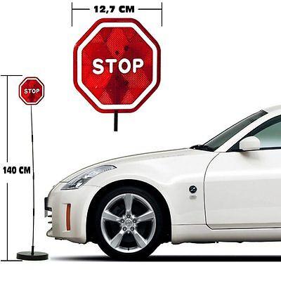 Assistente di Parcheggio a LED Segnale STOP con Asta Sensore di Vibrazione Auto