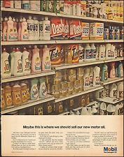 1967 Vintage ad for Mobil Oil`retro dish detergents Joy Tide Dash Photo (050217)