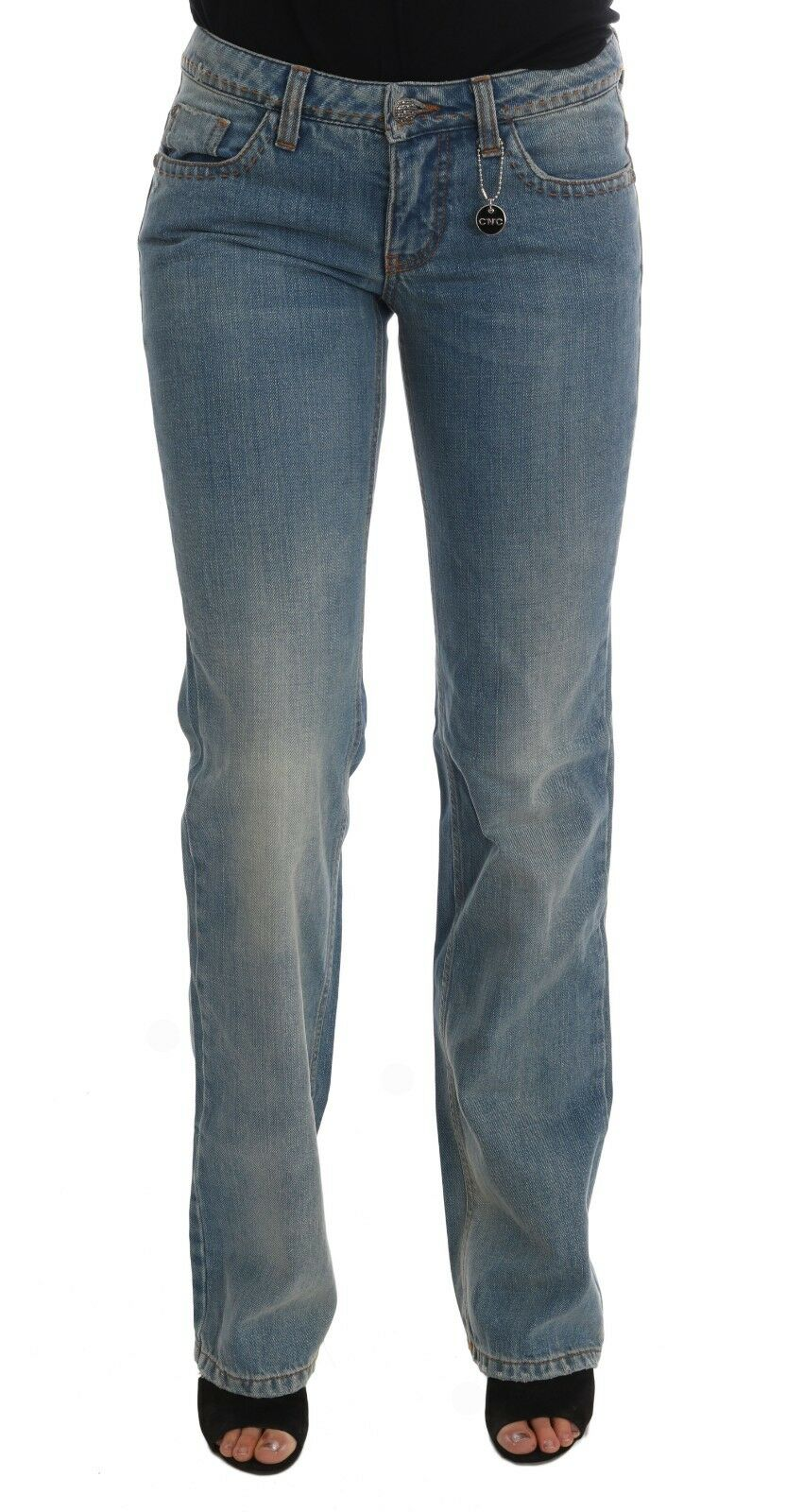 NEW  280 CoSTUME NATIONAL C'N'C Jeans Denim bluee Wash Cotton Classic Pant s. W26