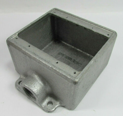 """Eaton Crouse-Hinds Condulet Cast Device Box 2 Gang Feraloy Iron Alloy 3//4/"""" FD22"""