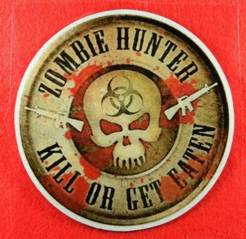 Zombie Hunter Decal for Car//Skateboard//Laptop