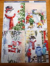 A4 Sheet of Card Toppers Christmas Snowman 4 pictures