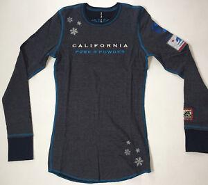 Alp-n-Rock-Women-039-s-1-XS-Heather-Gray-Navy-Blue-Crew-Neck-Shirt-Squaw-Valley-NWT
