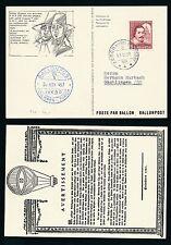 62054) Ballonpost FDA Dolder Schlieren - Aesch 30.5.57, 5Rp Inland