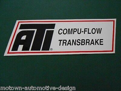 ATI COMPU-FLOW TRANS BRAKE TRANSMISSION DECAL STICKER RAT ROD GASSER IMPORT NHRA