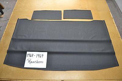 1968 68 1969 69 FORD THUNDERBIRD 2 DR BLACK SIERRA HEADLINER W SAIL VINYL USA