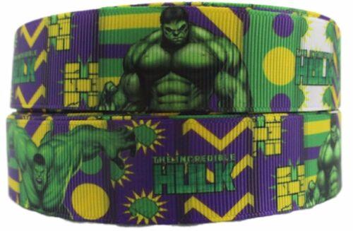 "USA Seller The Incredible Hulk 1/"" Wide Repeat Ribbon Sold in Yard Lot"