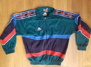 147e3120b7 Image is loading Kappa-FC-Barcelona-Football-Jacket-TrackSuit-XXL-1990-