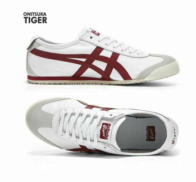 Asics Onitsuka Tiger Mexico 66  BURGUNDY Fashion Sneakers,shoes D4J2L-0125