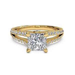 VVS-1-05Ct-Diamond-14K-White-Gold-Solitaire-Ring-Engagement-Wedding-Rings-Size-N