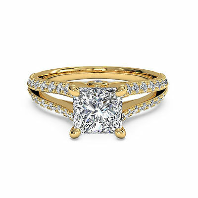 Other Fine Rings Professional Sale 1.05ct Diamond 14k White Gold Solitaire Engagement Ring Size M O N Wedding Rings Last Style