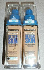 Lot of 2 Maybelline superstay better skin foundation 30