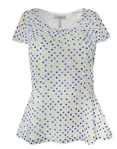 New-Pepperberry-Bravissimo-8-18-CRC-RSC-White-Spot-Polka-Dot-Blue-Top-Blouse