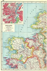 Map Of Ireland Mayo.Details About Ireland Nw Coast Mayo Sligo Roscommon Leitrim Inset Belfast Connaught 1920 Map