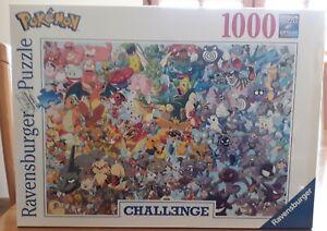 Rare-New-amp-sealed-Pokemon-Ravensburger-1000-Piece-Jigsaw-Puzzle-challenge