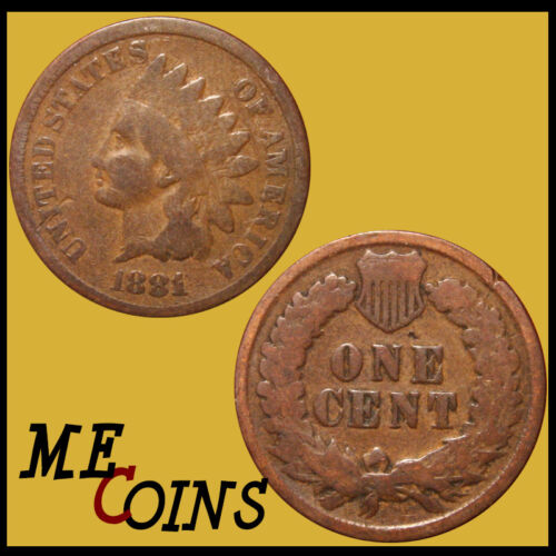 US Coin Circulated 1881 Indian Head Cent Penny