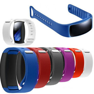 Silikon-Luxus-Ersatz-Uhrenarmband-fuer-Samsung-Gear-Fit-2-SM-R360-HQ