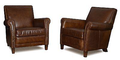 Miraculous Genuine Leather Club Chair Accent Chair Cigar Chair With Nail Heads Ebay Spiritservingveterans Wood Chair Design Ideas Spiritservingveteransorg