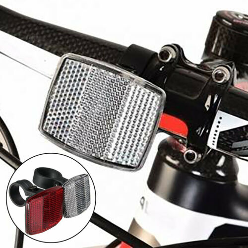 Durable Safe Reflector Handlebar Mount Bicycle Bike Front Rear Warning