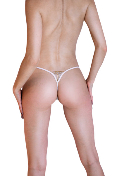 LUCKY CHEEKS Luxury String QUEEN OF LOVE Ivory Edition