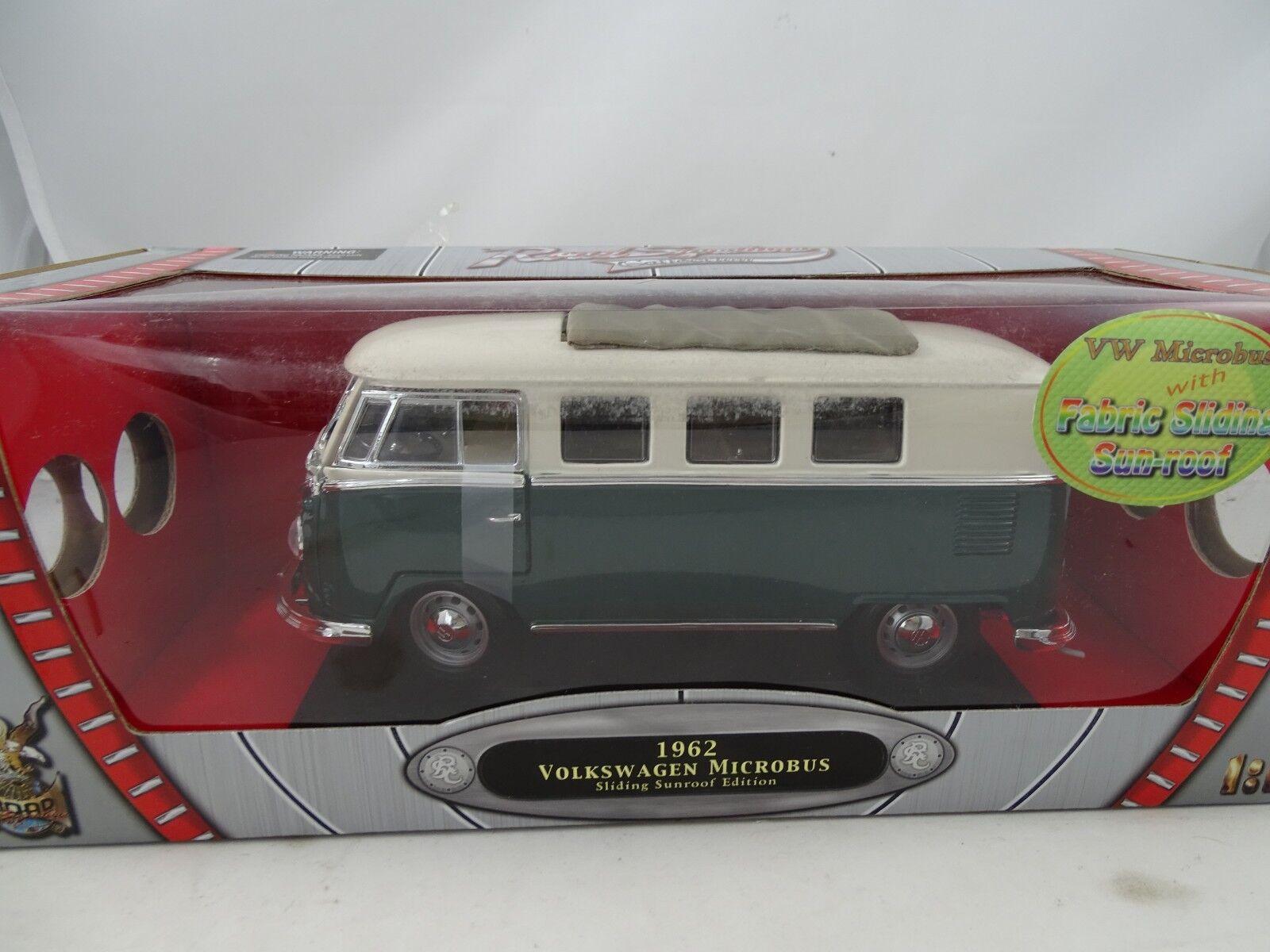 1 1 1 18 Road Signature 92327 1962 volkswagen microbus sliding sunroof verde rareza d68e34