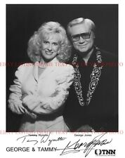 GEORGE JONES AND TAMMY WYNETTE SIGNED 8x10 STUDIO RP PROMO PHOTO COUNTRY MUSIC