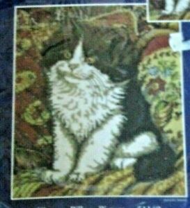 Kitty Cat On A Pillow Picture Counted Cross Stitch Candamar  Vanessa Adams 51149