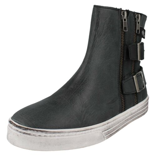 LADIES CASUAL HITOP TRAINERS WIDEFIT ANKLE BOOTS HARLEY DAVIDSON INKWOOD D888805