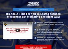 Facebook Messenger Bot Marketing Website For Sale