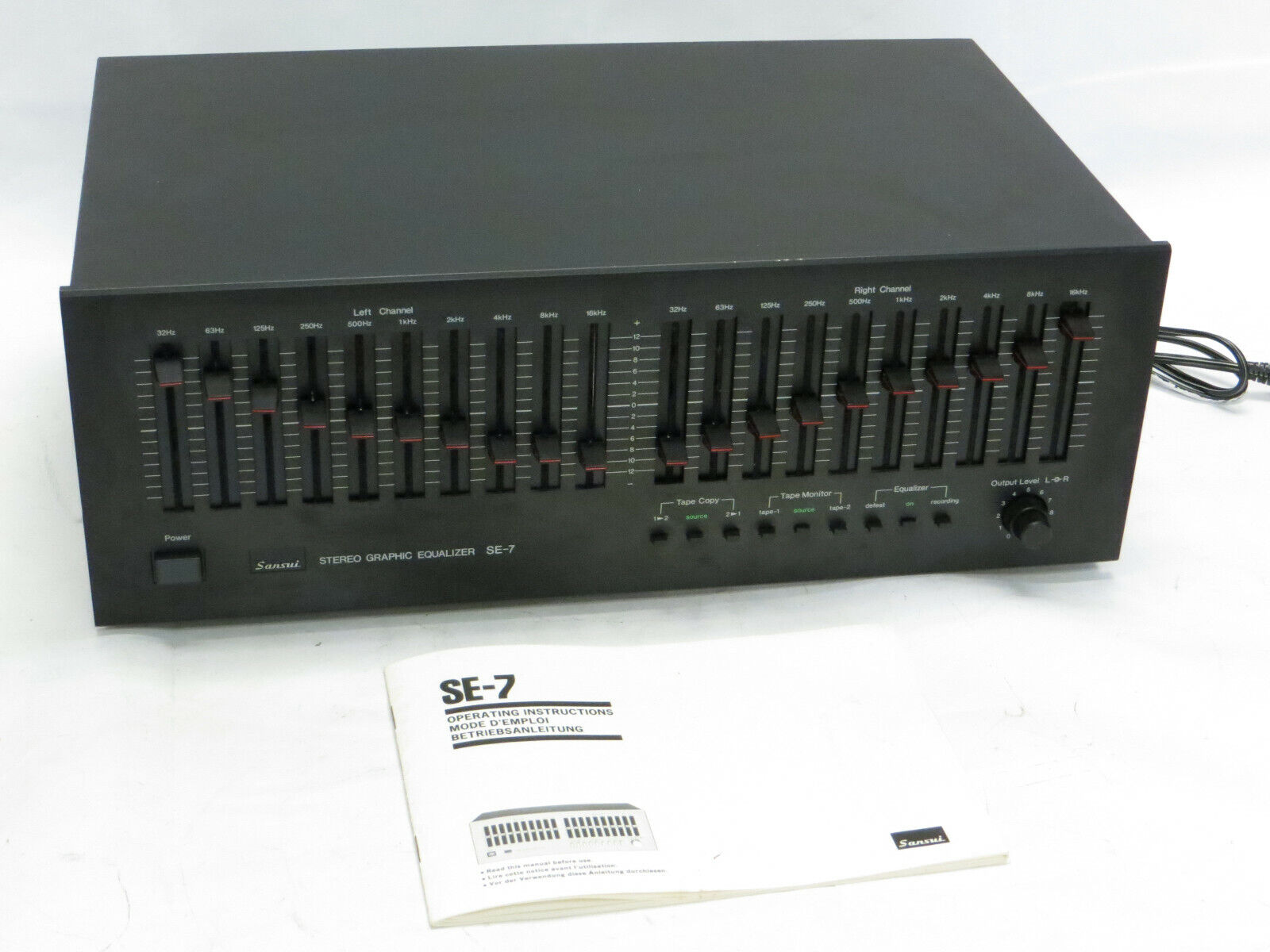 Sansui SE-7 Stereo Graphic Equalizer. Buy it now for 299.95