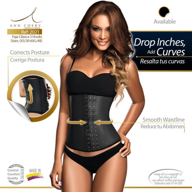 6a7c1a2845 Ann Chery 2021 3 Hooks Classic Latex Waist Trainer Cincher fajas colombianas