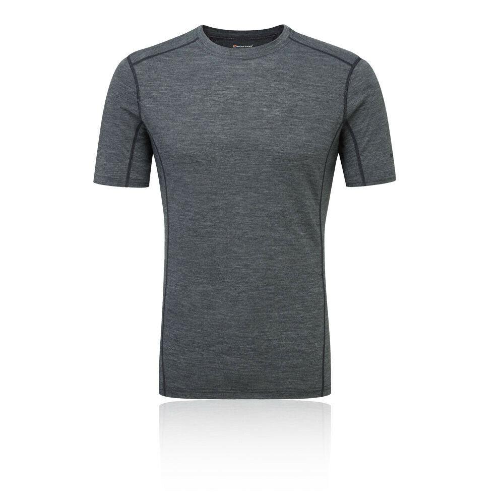 Montane Mens Primino 140 T Shirt Tee Top - grau Sports Running Outdoors Warm