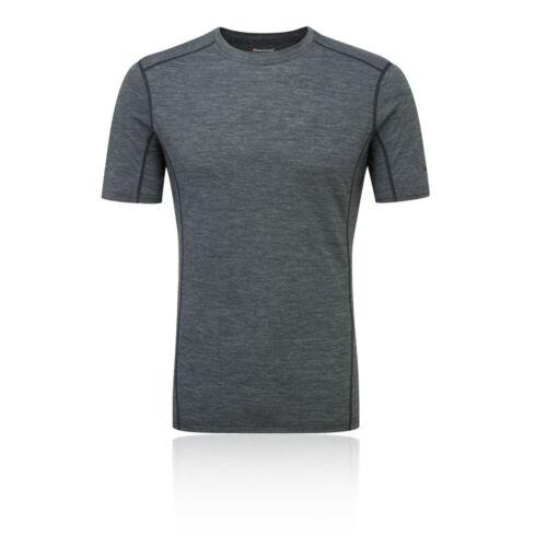 Grey Sports Running Outdoors Warm Montane Mens Primino 140 T Shirt Tee Top