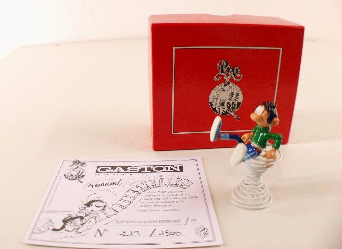 Pixi n°4709 Gaston sur son ressort numérougeé n°219 1500 neuf en boite