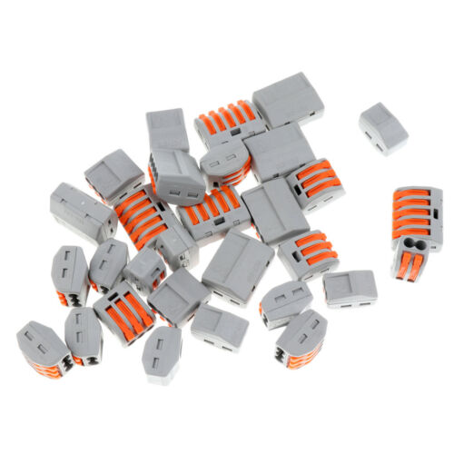 30Pieces PCT-212 213 215 Electric Cable Wire Spring Lever Terminal Connector