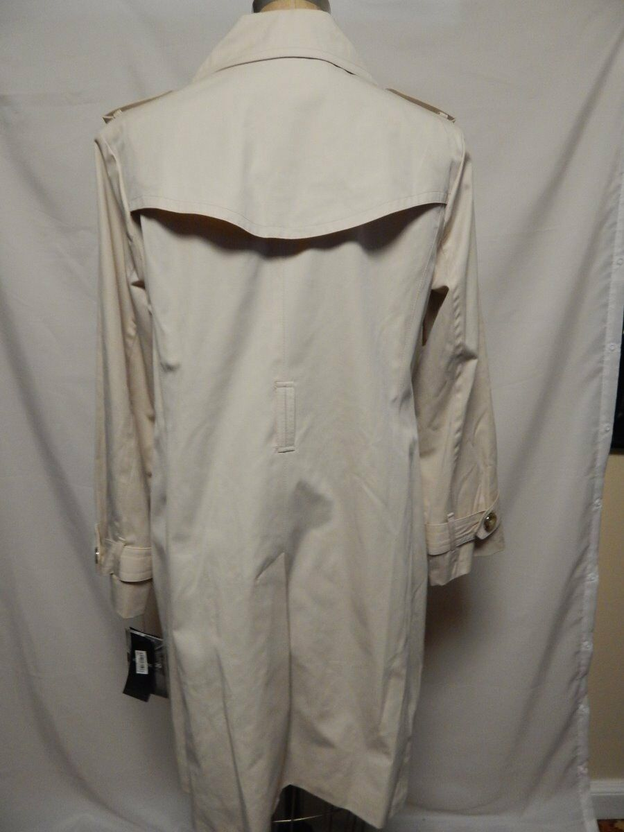 London Fog Petite Petite Petite Double Breasted Trench Coat PL Twine   New w  Defects 4aaaee
