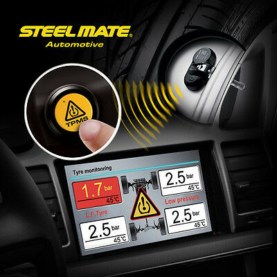 TPMS Tire Pressure Monitoring System w/4 Built-in Sensor Displayed on DVD Player