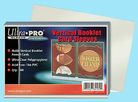 100 Ultra Pro Vertical Booklet Card Sleeves Soft Plastic Trading Sports