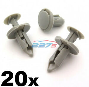 20x-8mm-Lang-Hell-Grau-Rand-Clips-Perfekt-fuer-VW-T4-amp-T5-Teppich-amp-Van-Futter