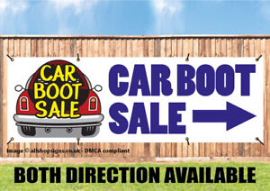 Car Boot Sign With Direction Arrow Sign Banner