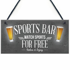 Sports-Bar-Man-Cave-Bar-Pub-Beer-Football-Hanging-Sign-Plaque-Gift-For-Him