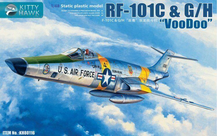 Kitty Hawk 80116 1 48 RF-101C & G H Voodoo