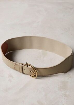 NEW Anthropologie Hettig Corset Belt Taupe Leather Stretch XS S M L