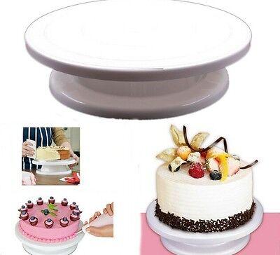 Revolving Cake Sugarcraft Turntable cake swivel plate Stand Platform turntable S